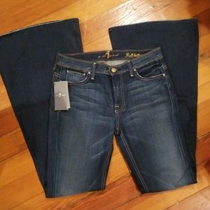 NEW 7 For All Mankind Flare Bell Bottom Jeans, 29